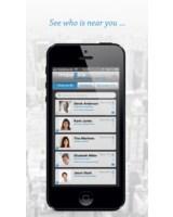 Screenshot mapp2link: Anzeige der Kontakte in der Nähe