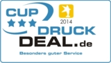 CUP – Customer Prize für bannerstop von druckdeal.de für den besonders guten Kundenservice