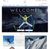 Die Startseite des neuen Bogner-Shops in den USA