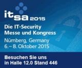 Infotecs präsentiert Industry und Mobile Security bei der it-sa 2015 in Nürnberg am Stand 12.0-446.