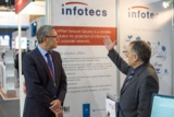 Das Infotecs Team präsentierte Lösungen zur IT-Sicherheit für mobile Endgeräte beim MWC 2015.