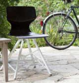 EDDI der Stuhl - gebaut aus einem Fahrradrahmen