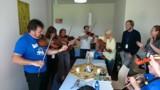 Unterricht für die Geigespieler und die Sänger; Foto: Bluegrass Camp Germany