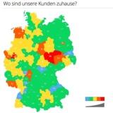 Farbliche Darstellung der Kundenfrequenz.