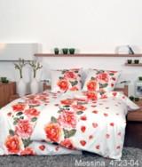 Satin-Bettwäsche mit floralem Design – der Trend 2014