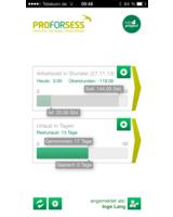 Startbildschirm der App. Soll/Ist-Vergleich auf einen Blick.
