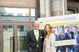 Jürgen Bockholdt, CEO der CAREERS LOUNGE und Christine Pehl, CSR-Beraterin