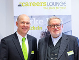 Anselm Bilgri mit Jürgen Bockholdt beim Business Breakfast der CAREERS LOUNGE