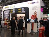 EuroCIS Messestand TCPOS mit Remira, StatControl