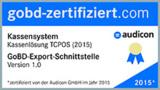 GoBD-Zertifikat der TCPOS-Kassenlösung von Audicon