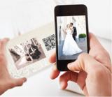QR-Code auf einer Danksagungskarte zur Hochzeit
