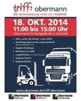 """""""Triff Obermann"""" ist eine Veranstaltung rund um das Thema Mobilität. Quelle:Obermann Unternehmensgr."""