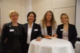 (v.l.n.r.) Isolde Fischer, Elisabeth Kuhn, Dr. Beate Weingardt, Silke Kirschenmann