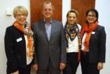 (v.l.n.r.) Isolde Fischer, Peter Weinert, Silke Kirschenmann, Dr. Elisabeth Kuhn