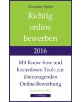 """Alexander Sprick: """"Richtig online bewerben 2016"""""""