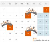 Brückentage und lange Wochenenden im Kalender 2016