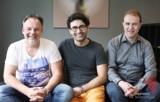 Christian Kleinsorge (CEO) , Dr. Siamak Haschemi (Gf Qyotta), Eugen Becker (CTO) (v.l.n.r.)