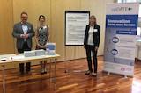 Helmut Hüttenrauch, Anna-Lena Ganster (upDATE), Katja Andes (FIVE Digital) beim Unternehmerdialog