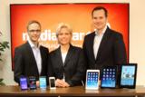 Neue Geschäftsführung bei mediaspar.tv: v.l.n.r. Mecking, Klemann, Preuß
