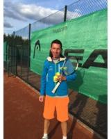 Leiter der Tennisschule Marcus Merkel im Grafenwald