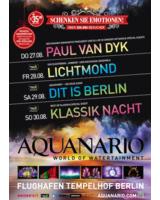Aquanario® Weihnachtsplakat mit Show-Terminen