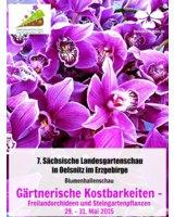 Blumenhallenschau in Oelsnitz auf der Landesgartenschau mit dem Orchideengarten Karge