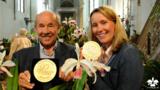 Joachim und Marei Karge mit 2 der 5 gewonnenen Grossen Goldmedaillen auf der BuGa 2015