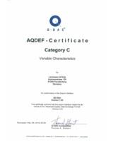 AQDEF-Certificate Category C für Lachmann & Rink (Quelle: L&R).