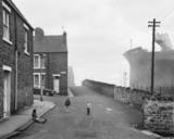 Housing and Shipyard, Wallsend, Tyneside, 1975  © Chris Killip