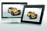 3D-Konfigurator Fahrzeugbeschriftung (Quelle: ccvision)