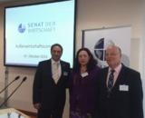 Prof. Peter Anterist, InterGest Austria Geschäftsführerin Elisabeth Heller, Sergey Frank