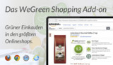 WeGreen Shopping Add-on am Beispiel von Amazon