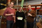 Anna Heller, Brauerei Heller sowie Armin Weische und Tim Loppe von der NATURSTROM AG.