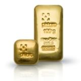 Gegossene philoro Goldbarren in den Stückelungen 1 oz und 100 g