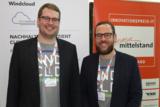 Karl Rabe, Geschäftsführer von Windcloud und Bastian Springer, Marketingleiter