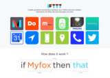 Myfox Smart Home Security Channel auf IFTTT