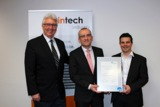 Dr. Christian Hock, Dr. Klaus Wiltschi, Clustermanager Patrick Haberstroh (v.l.n.r.)