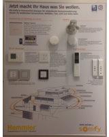 Übersichtstafel Somfy Smart Home-Lösung in der Hemmler-Ausstellung in Schutterwald