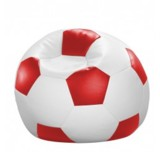 Kindersitzsack Fußball Rot Weiss