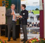 Kurt Mosen und Johannes Hofer beim Unternehmerforum des Landkreises Pfaffenhofen am 22. Oktober 2015