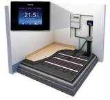 Warmup-Fußbodenheizung Aufbau und Schichten mit Smart-Thermostat 4iE