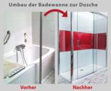 An einem Arbeitstag wird aus der alten Wanne schnell und günstig eine Dusch-Oase