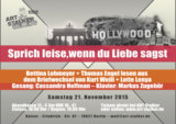 Bettina Lohmeyer und Thomas Engel lesen aus dem Briefwechsel von Kurt Weill und Lotte Lenya