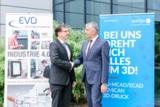 Dipl.-Ing. (FH) Jürgen Widmann (EVO Informationssysteme) (li.) und Werner Meiser (Solidpro) (r.)