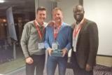 Das Gewinner-Team: Steven King, Jens Stange, Joseph Chimnogonum Odum