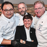 Xiao Wang, Heiko Antoniewicz,  Silvia Borghorst und Frank Schwarz (v. l.) rockten gemeinsam.
