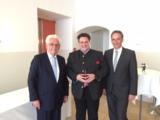 Präsident Bernhard Schindler im Gespräch mit OBI-Gründer Prof. Maus