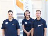 Die drei neuen Auszubildenden bei GDI Software