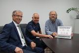 Karl-Wolfgang Brunner, REWAG; Reinhard Fuchs, REWAG; Arno Friedrich, OPTIMUS Meine Energie GmbH