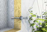 Iso-Bar ECO ist ein wärmebrückenoptimiertes System zur Befestigung von Begrünung auf WDVS-Fassaden